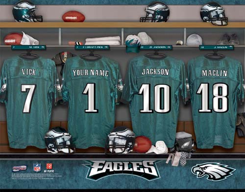PHILADELPHIA EAGLES NFL LOCKER ROOM PRINT