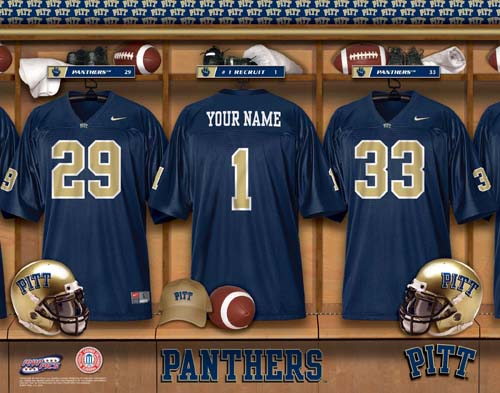 PITTSBURGH PANTHERS NCAA LOCKER ROOM PRINT