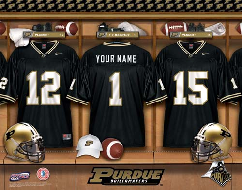 PURDUE BOILERMAKERS NCAA LOCKER ROOM PRINT