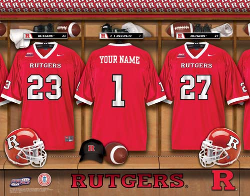 RUTGERS SCARLET KNIGHTS NCAA LOCKER ROOM PRINT