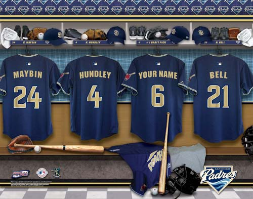 SAN DIEGO PADRES MLB LOCKER ROOM PRINT