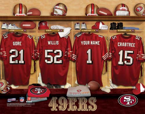 SAN FRANCISCO 49ERS NFL LOCKER ROOM PRINT