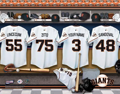 SAN FRANCISCO GIANTS MLB LOCKER ROOM PRINT