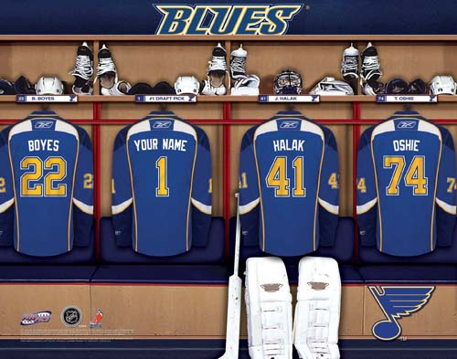ST LOUIS BLUES NHL LOCKER ROOM PRINT