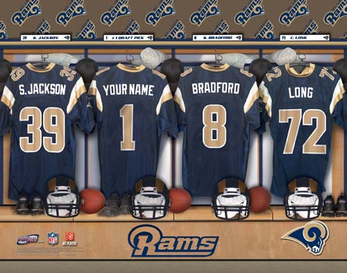 ST. LOUIS RAMS NFL LOCKER ROOM PRINT