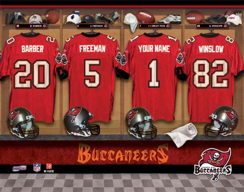 TAMPA BAY BUCCANEERS NFL LOCKER ROOM PRINT