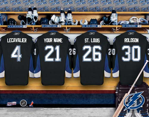 TAMPA BAY LIGHTNING NHL LOCKER ROOM PRINT