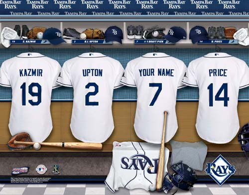 TAMPA BAY RAYS MLB LOCKER ROOM PRINT