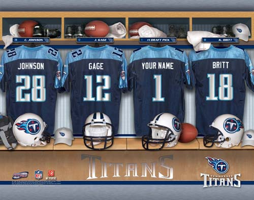TENNESSEE TITANS NFL LOCKER ROOM PRINT