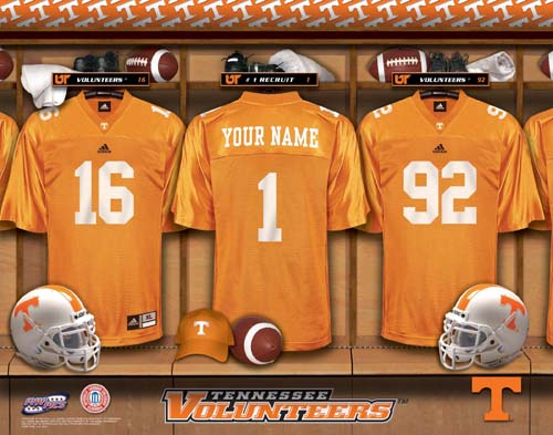 TENNESSEE VOLUNTEERS NCAA LOCKER ROOM PRINT