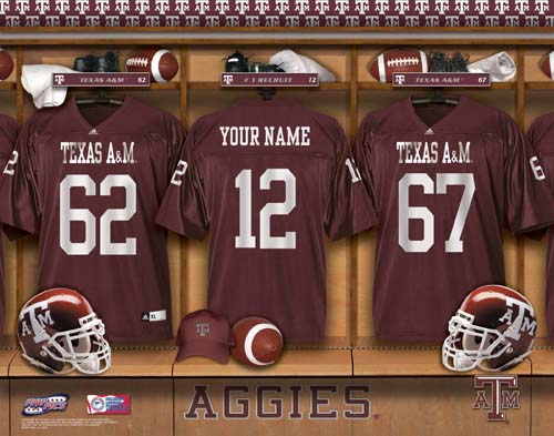 TEXAS A&M NCAA LOCKER ROOM PRINT