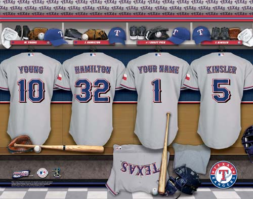 TEXAS RANGERS MLB LOCKER ROOM PRINT