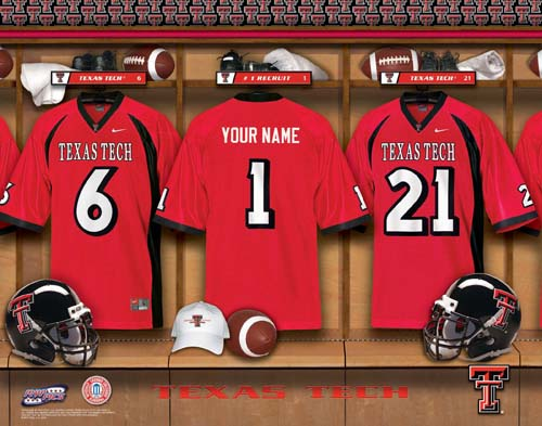 TEXAS TECH NCAA LOCKER ROOM PRINT