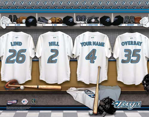 TORONTO BLUE JAYS MLB LOCKER ROOM PRINT