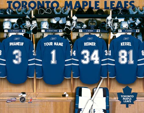 TORONTO MAPLE LEAFS NHL LOCKER ROOM PRINT