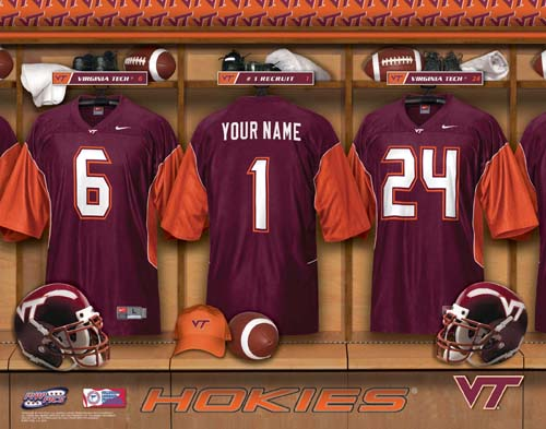 VIRGINIA TECH NCAA LOCKER ROOM PRINT