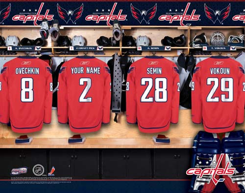 WASHINGTON CAPITALS NHL LOCKER ROOM PRINT