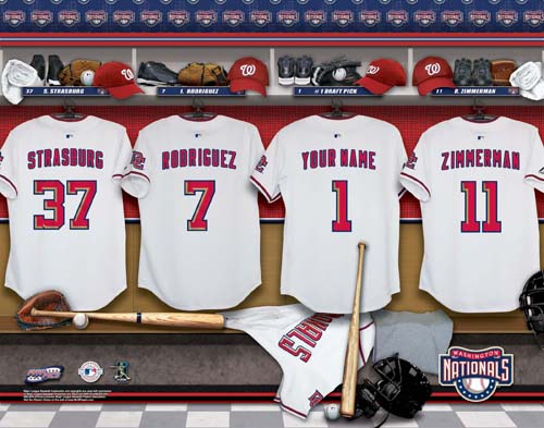 WASHINGTON NATIONALS MLB LOCKER ROOM PRINT