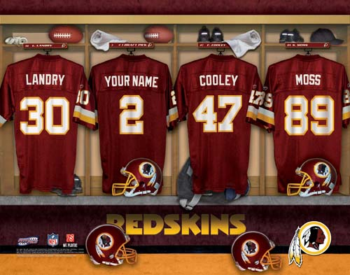 WASHINGTON REDSKINS NFL LOCKER ROOM PRINT