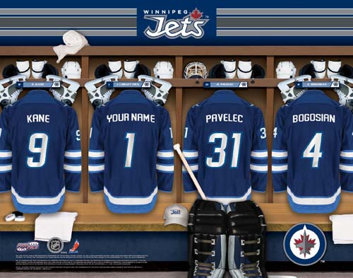 WINNIPEG JETS NHL LOCKER ROOM PRINT