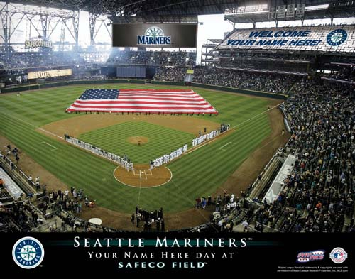 SEATTLE MARINERS MLB STADIUM PRINT