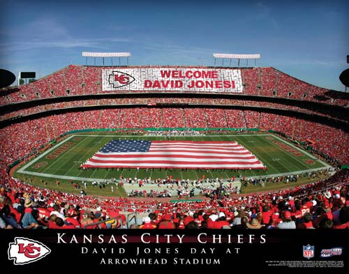 KANSAS CITY CHIEFS NFL STADIUM PRINT - Click Image to Close