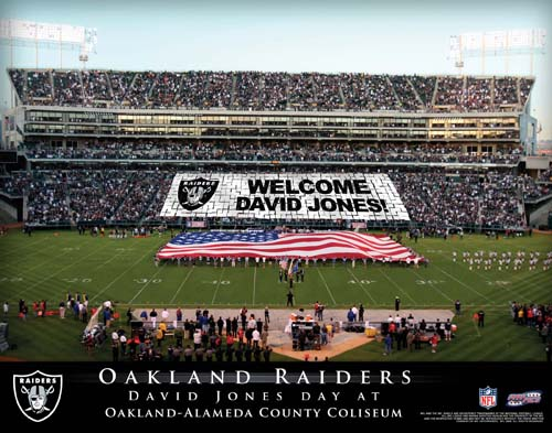 OAKLAND RAIDERS NFL STADIUM PRINT