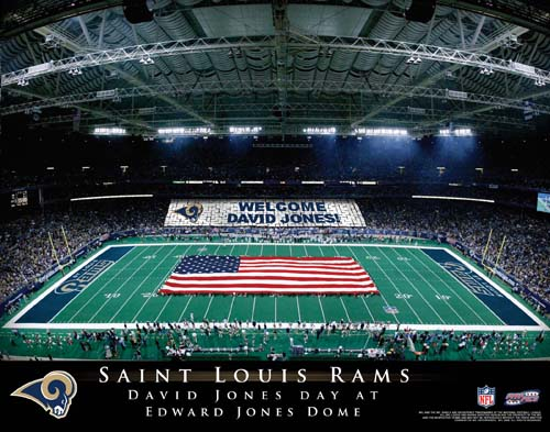 SAINT LOUIS RAMS NFL STADIUM PRINT