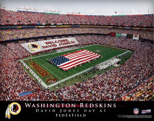 WASHINGTON REDSKINS NFL STADIUM PRINT - Click Image to Close