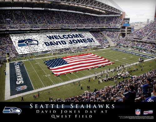 SEATTLE SEAHAWKS NFL STADIUM PRINT