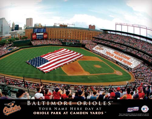 BALTIMORE ORIOLES MLB STADIUM PRINT