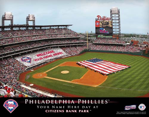 PHILADELPHIA PHILLIES MLB STADIUM PRINT