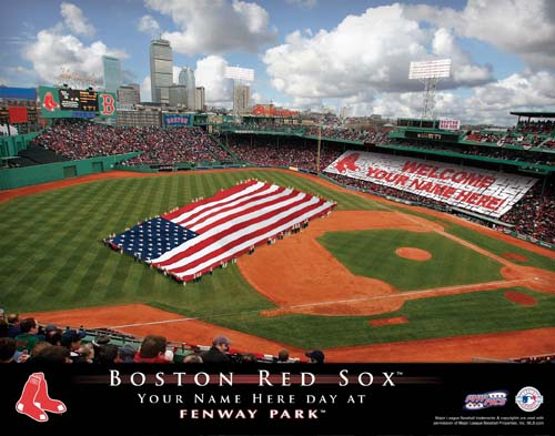 BOSTON RED SOX MLB STADIUM PRINT