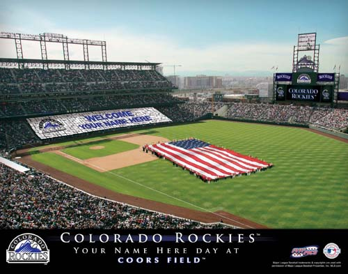 COLORADO ROCKIES MLB STADIUM PRINT