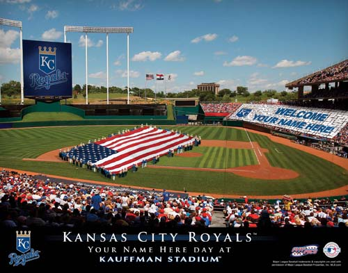 KANSAS CITY ROYALS MLB STADIUM PRINT