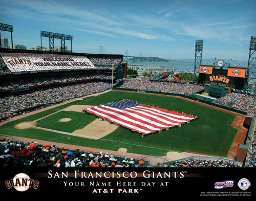 SAN FRANCISCO GIANTS MLB STADIUM PRINT
