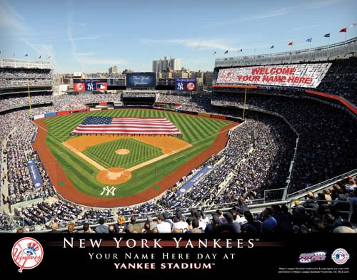 NEW YORK YANKEES MLB STADIUM PRINT