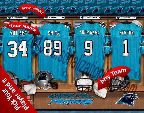 CAROLINA PANTHERS NFL LOCKER ROOM PRINT