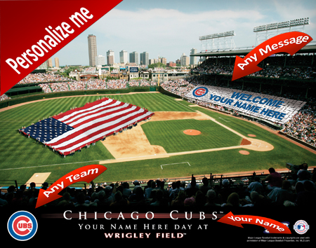 Chicago Cubs Personalized Stadium Prints