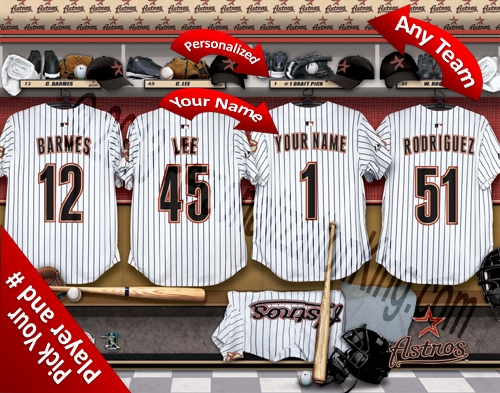 Los Angeles Dodgers MLB Personalized Locker Room Print