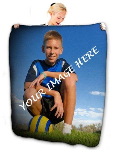 "80"" x 60"" Plush Fleece Printed Blanket"