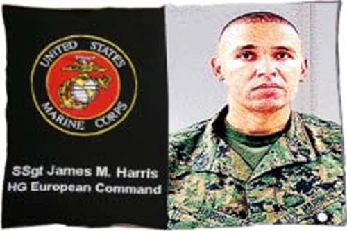 "40"" x 60"" Marines Military Knit Photo Throw Blanket"